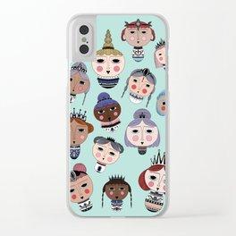 Warrior queens Clear iPhone Case