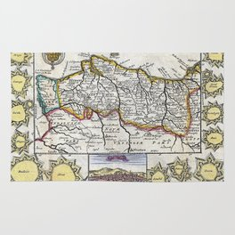 Map of Portugal - 1747 Rug