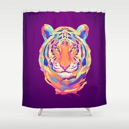 Neon tiger Shower Curtain
