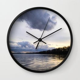 Sauvie Island Evening Skies Wall Clock