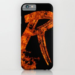 Burning on Fire Letter R iPhone Case