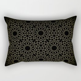 Geodesic Gold 02 Rectangular Pillow