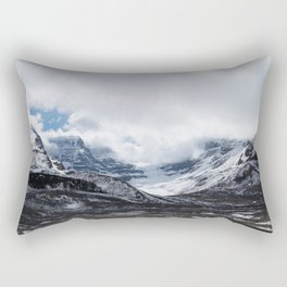 Jasper Glaciers | Landscape Photography | Mountains and Clouds | Skyscape Rectangular Pillow