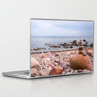 geology Laptop & iPad Skins featuring At the beach by UtArt