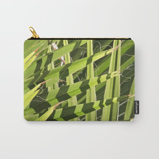TEXTURES -- Palm Fronds Intersecting Carry-All Pouch