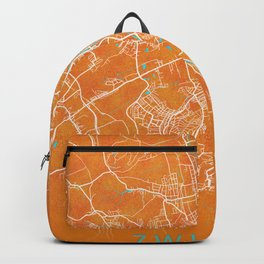 Zwickau, Germany, Gold, Blue, City, Map Backpack