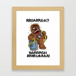 Drunk Chewbacca  Framed Art Print