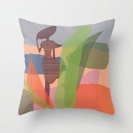 Abstract girl pro Throw Pillow