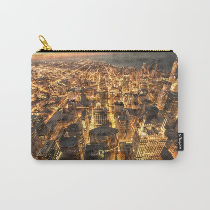chicago aerial view Carry-All Pouch