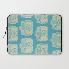 I Still Shoot Film Holga Logo - Turquoise/Tan Laptop Sleeve