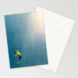 Novak Djokovic Tennis Serving Artsy Stationery Cards