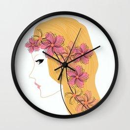 Girl - spring. Wall Clock