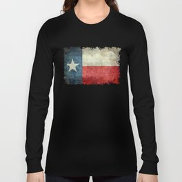 Texas State Flag, Retro Style Long Sleeve T-shirt