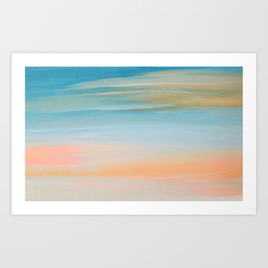 Fresh Colors Painterly Abstract Art Print