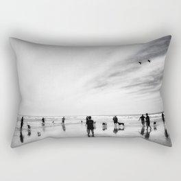 Dog Beach Rectangular Pillow