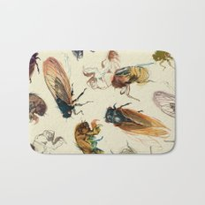 summer cicadas Bath Mat
