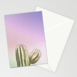 iridescent Neon Cactus - soft tones Stationery Cards