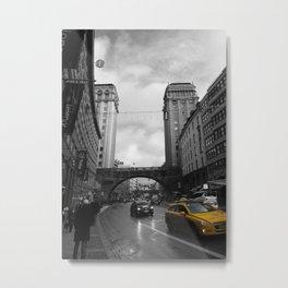 Street view of Stockholm Metal Print