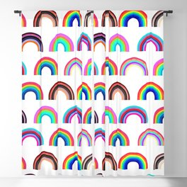 Be Yourself Rainbow Blackout Curtain