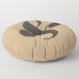 Elephant Italic Ampersand Floor Pillow