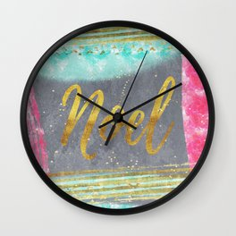 NOEL - Merry modern abstract christmas Wall Clock