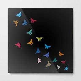 Flying Origami Butterflies Metal Print
