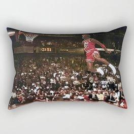 Mi-chael Jordan Art Canvas-Basketball Winner Mi-chael Jordan Art Poster Rectangular Pillow