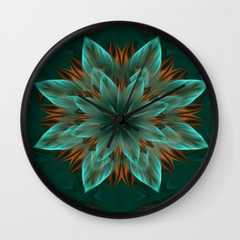 The flower of hope  Wall Clock