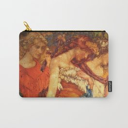 The Mirror of Time, Age, & Youth renaissance portrait painting tapestry No.2 by Noël Laura Nisbet Carry-All Pouch