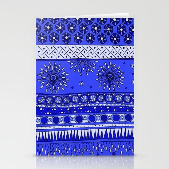 Yzor pattern 007-2 blue Stationery Cards