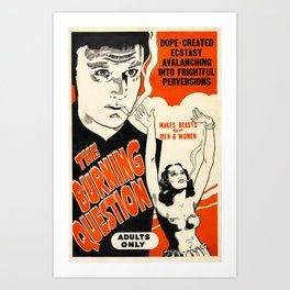 Vintage Poster The Burning Question Art Print