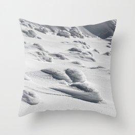 Frozen snow sculptures on Snežnik, Slovenia Throw Pillow