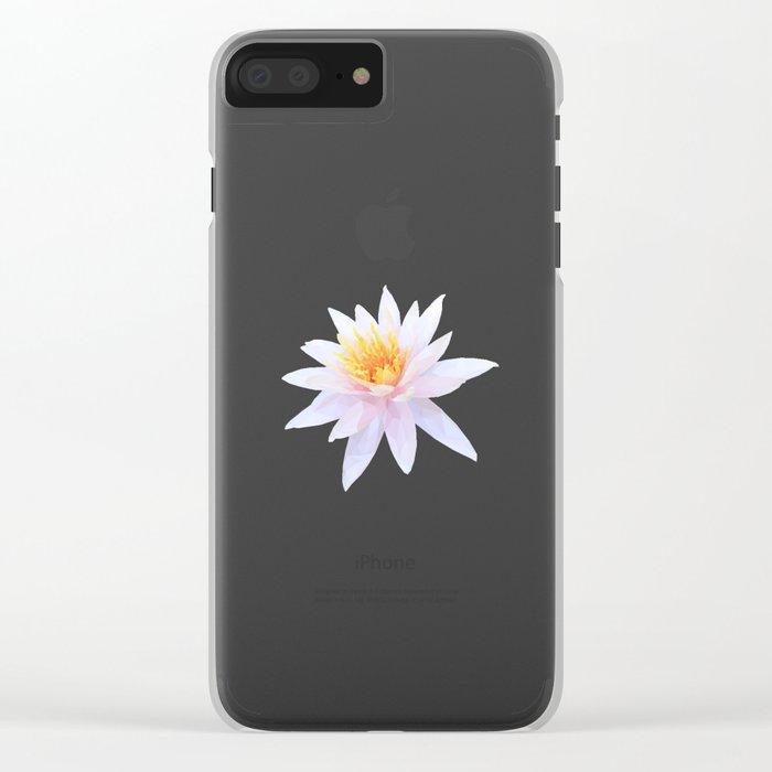 Geometric Lotus Flowers Clear iPhone Case