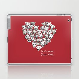 Just Love. (white text) Laptop & iPad Skin