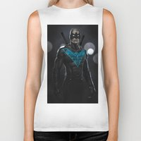 nightwing Biker Tanks featuring Nightwing 02 by Yvan Quinet