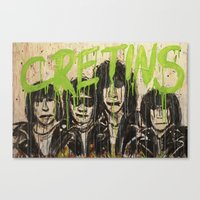 ramones Canvas Prints featuring Cretin Hop by mayhemmcelroy