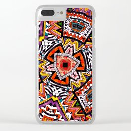 Tribal Abstract Clear iPhone Case