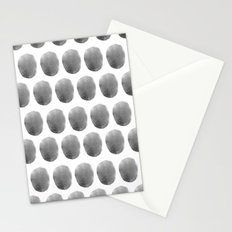 Watercolour polkadot black Stationery Cards