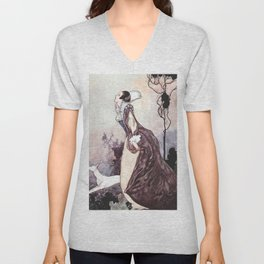 """""""Some Glory In Their Birth"""" Fairy Art by Charles Robinson Unisex V-Neck"""