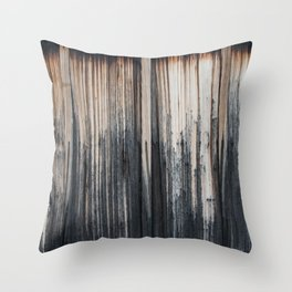 Weathered wood wall Throw Pillow