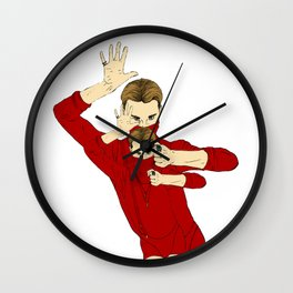 RED OBSESSION Wall Clock