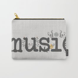 Floral music Carry-All Pouch