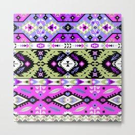 Boho Navajo Geometric Var. 15 Metal Print