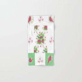 Cardinal Ladybug Pattern Hand & Bath Towel