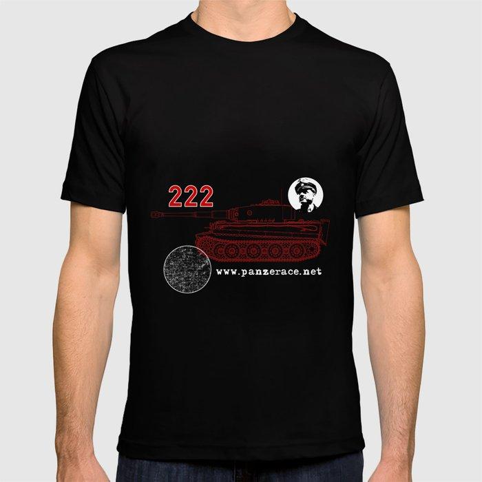 Michael Wittmann Panzer Ace 222 Villers Bocage Black T-shirt