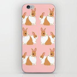 Blonde Dutch Rabbits Pattern iPhone Skin