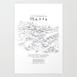 Marfa, Sundance Film Festival selected short film Art Print