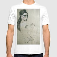 fee White MEDIUM Mens Fitted Tee