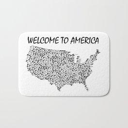 Welcome to America Guns Map Bath Mat