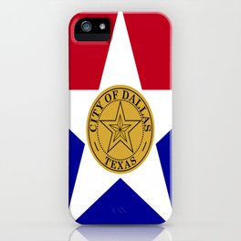 American cities-  Flag of Dallas. iPhone Case